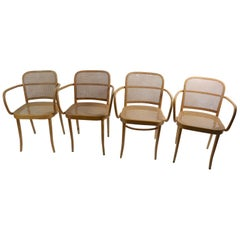 Set of 4 Bentwood Chairs Made in Czechoslovakia after Thonet