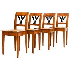 Set of 4 Biedermeier Chairs, Austria, 19th Century