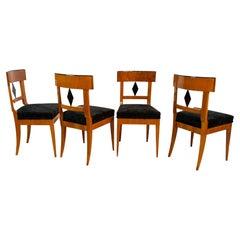 Set of 4 Biedermeier Chairs, Cherry Wood, South Germany circa 1820