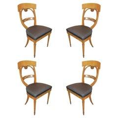 Set of 4 Biedermeier Chairs