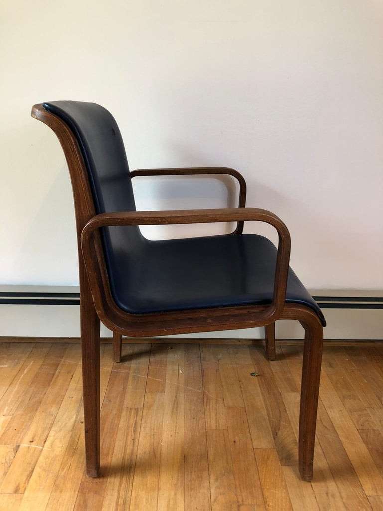 American Set of 4 Bill Stephens for Knoll Armchairs For Sale