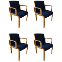 Set of 4 Bill Stephens for Knoll Armchairs
