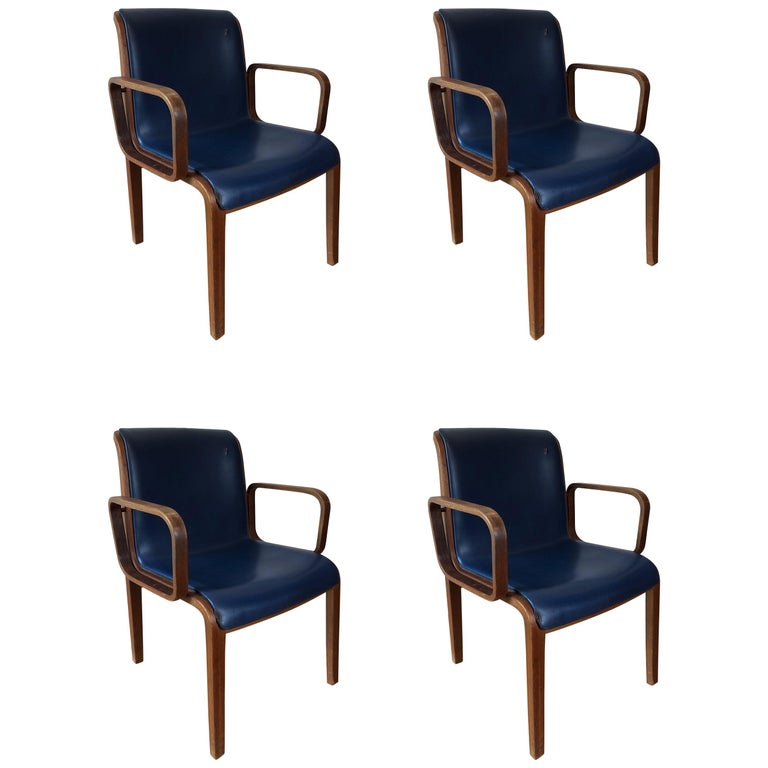 Set of 4 Bill Stephens for Knoll Armchairs For Sale