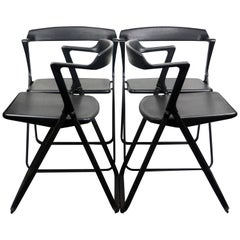Set of 4 Blitz Folding Chairs by Motomi Kawakami for Skipper