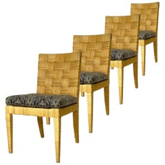 Set of 4 Block Island Wicker Dining Chairs by John Hutton for Donghia