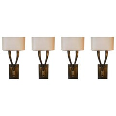 Set of Four Brass Sconces