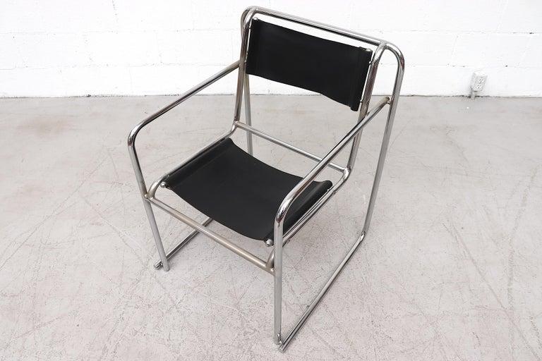 Metal Set of 4 Bruno Pollak Bauhaus RP-7 Chairs for PEL Oldbury, 1932 For Sale