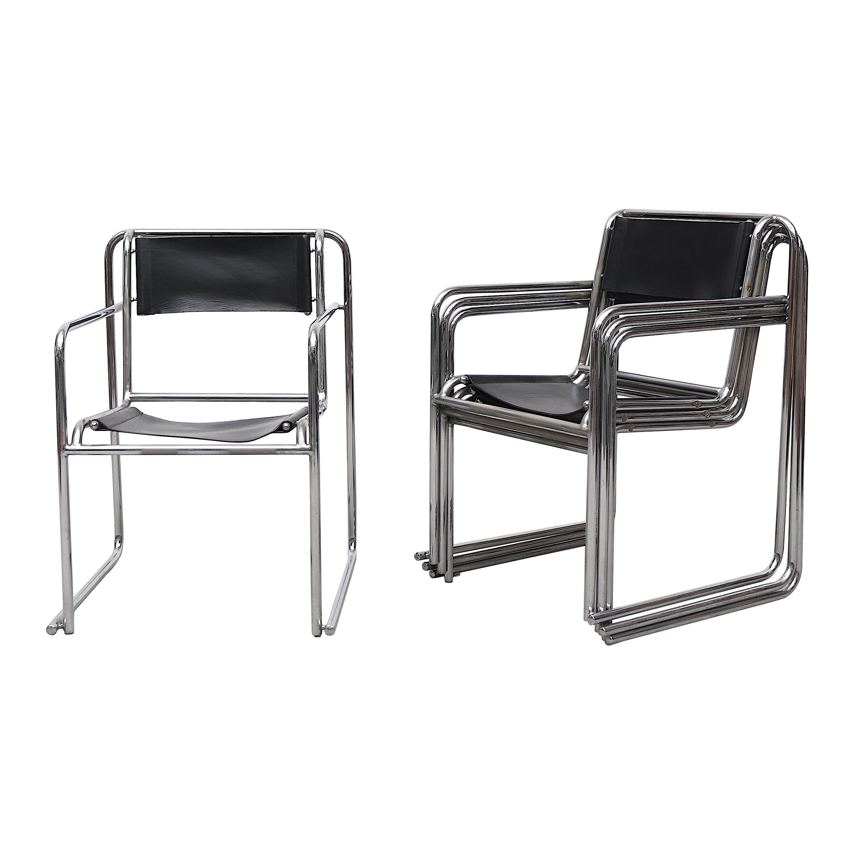 Set of 4 Bruno Pollak Bauhaus RP-7 Chairs for PEL Oldbury, 1932