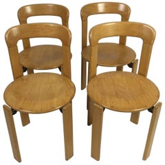 Set of 4 Bruno Rey Chairs, for Dietiker Mobilier International, 1970