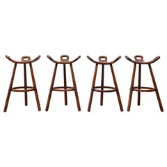 Set of 4 Brutalist' Bar Stools