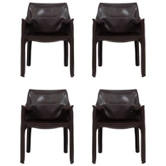 Set of 4 CAB Armchairs by Mario Bellini
