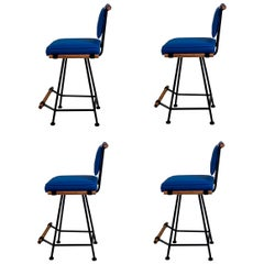 Set of 4 California Modern Swiveling Counter Stools