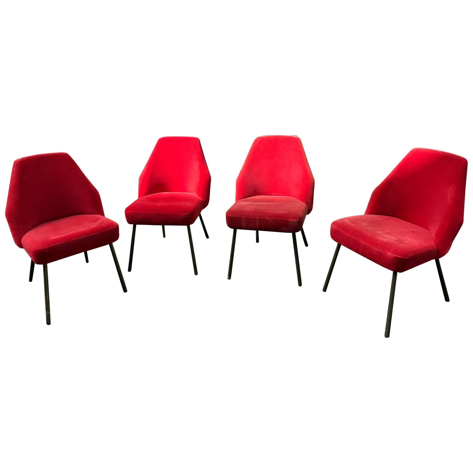 Set of 4 Campanula Chairs by Carlo Pagani for Arflex