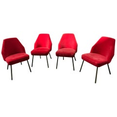 Set of 4 Campanula Chairs by Carlo Pagani for Arflex