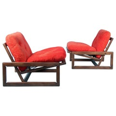 Set of 4 'Carlotta' Lounge Chairs by Afra & Tobia Scarpa for Cassina