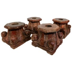 Set of 4 Carved Antique Chinese Architectural Fragments