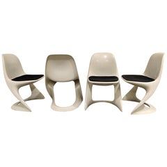 Set of 4 Casalino Dining Chair by Alexander Begge for Casala, 1970s