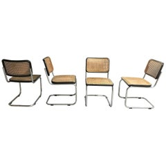 Set of 4 Cesca B32 side chairs by Marcel Breuer for Thonet