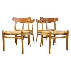 Set of 4 Ch-23 Chairs Hans J. Wegner for Carl Hansen & Son, Denmark, 1950s