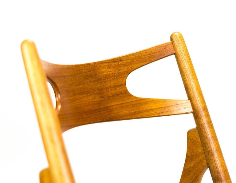 Set of 4 CH29 Sawbuck Dining Chairs by Hans Wegner for Carl Hansen & Søn For Sale 6