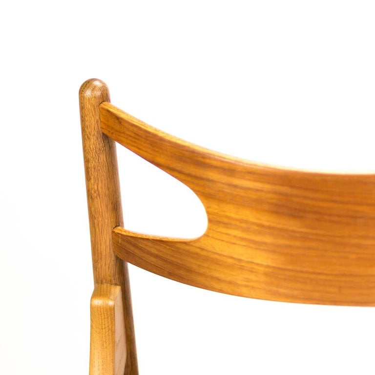 Set of 4 CH29 Sawbuck Dining Chairs by Hans Wegner for Carl Hansen & Søn For Sale 8