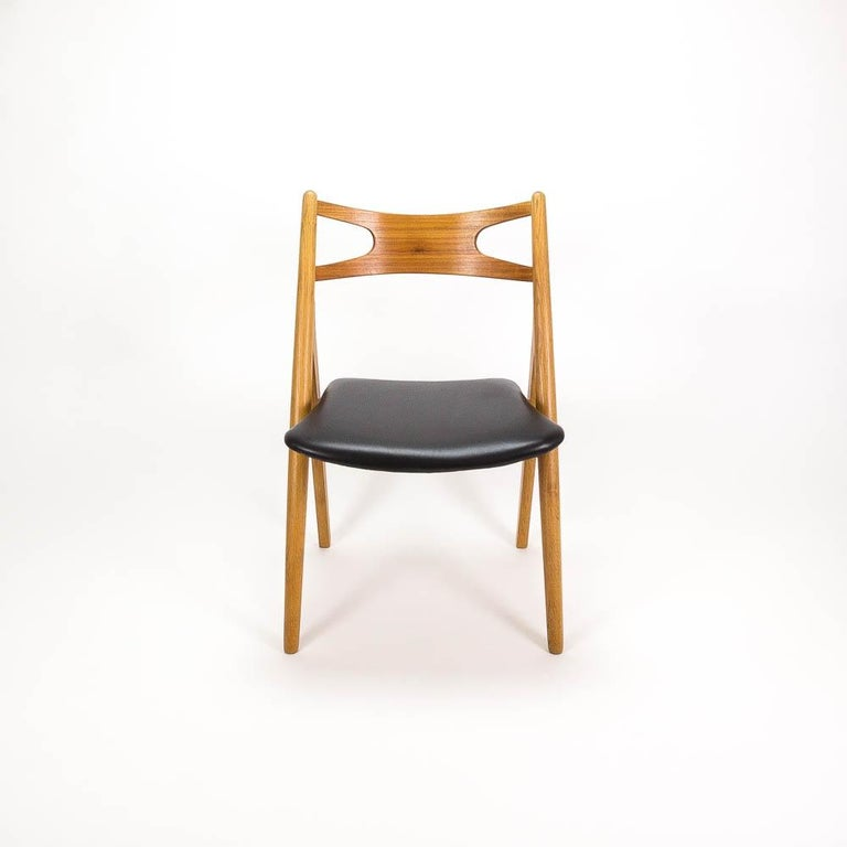 Danish Set of 4 CH29 Sawbuck Dining Chairs by Hans Wegner for Carl Hansen & Søn For Sale