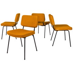 Set of 4 Chairs by André Simard for Airborne, circa 1955, France