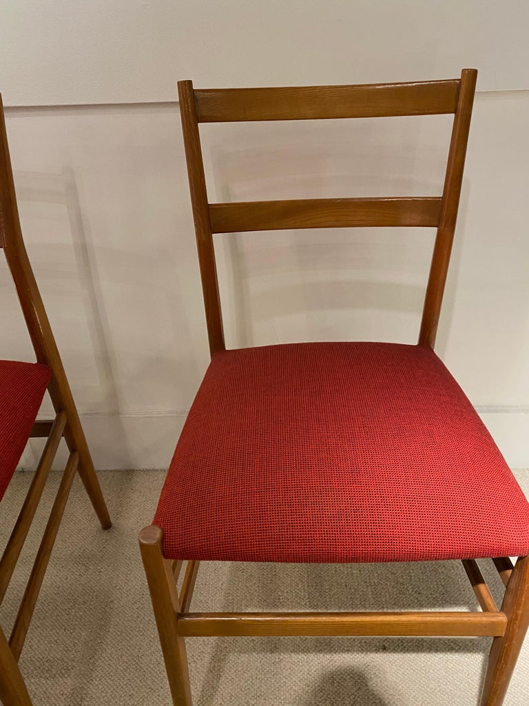 Set of 4 Chairs by Gio Ponti, circa 1950 For Sale 4