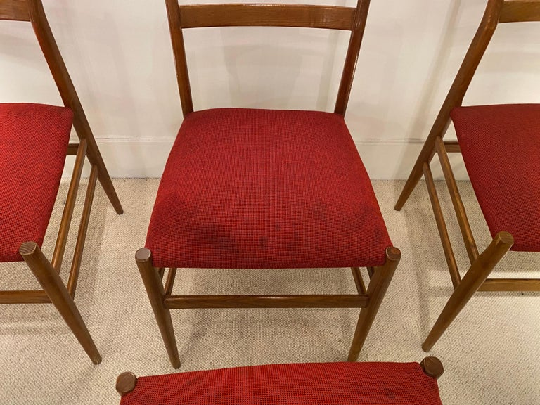 Set of 4 Chairs by Gio Ponti, circa 1950 For Sale 2