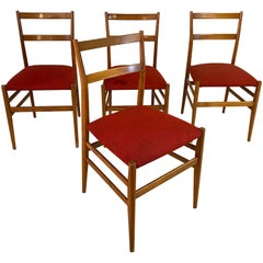Set of 4 Chairs by Gio Ponti, circa 1950