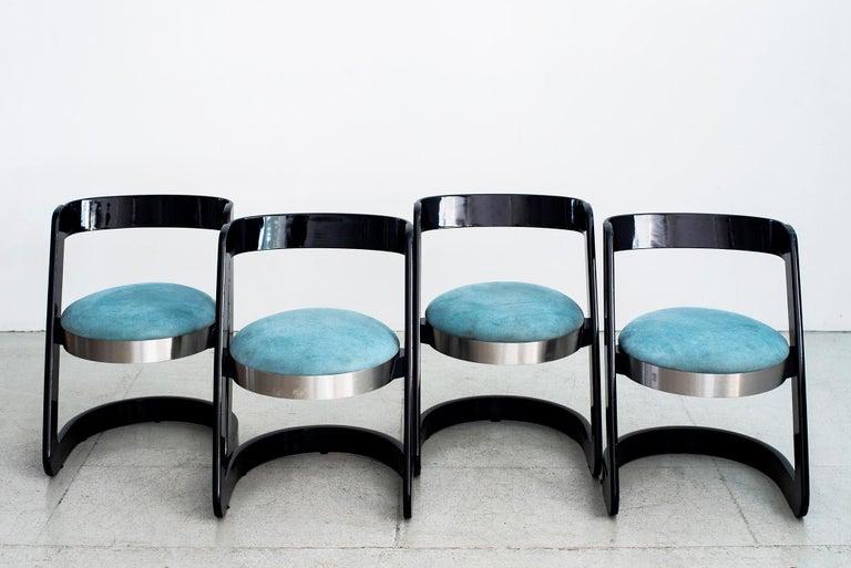 Italian Willy Rizzo Chairs - Set of 4  For Sale