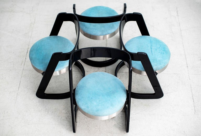 Late 20th Century Willy Rizzo Chairs - Set of 4  For Sale