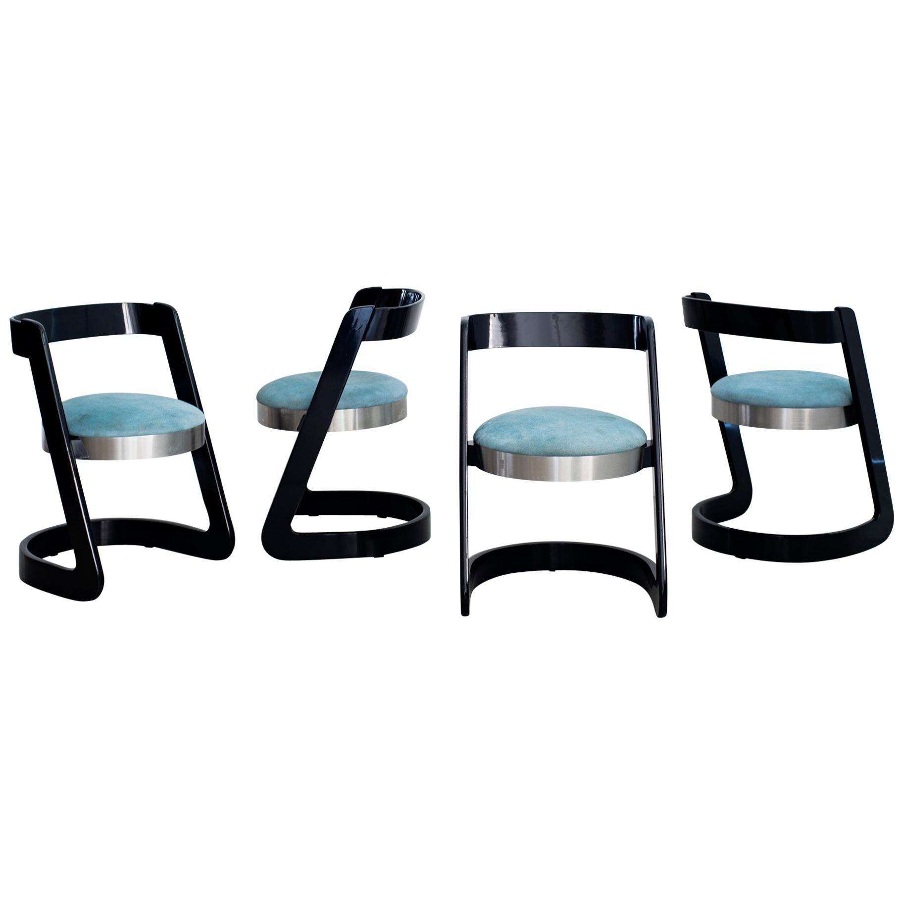Willy Rizzo Chairs - Set of 4