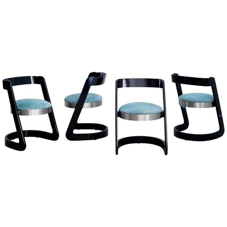 Willy Rizzo Chairs - Set of 4  For Sale