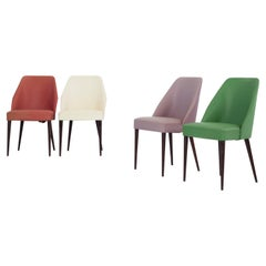 Set of 4 Chairs, Designed and Manufactured by Figli Di Amedeo Cassina in Italy