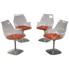 Set of 4 Champagne Chair after Estelle & Erwine Laverne