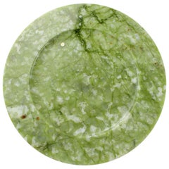 Set of 4 Charger Plates in Green Ming Marble Design by Pieruga Marble, Italy