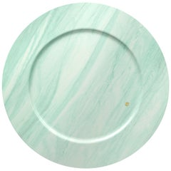 Set of 4 Charger Plates in Green Quartzite Design by Pieruga Marble, Italy