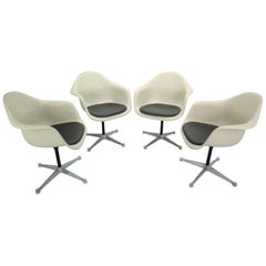 Set of 4 Charles Eames for Herman Miller Bucket Swivel Chairs, 1950s