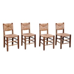 Set of 4 Charlotte Perriand, Mid-Century Modern, Model 19 Bauche Chair, 1950