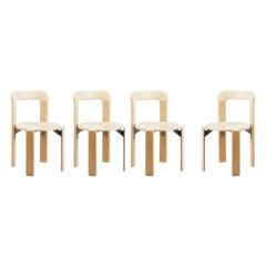 Set of 4 Children Chairs in Wood, Mid-Century Modern, Design 1971, in Beech