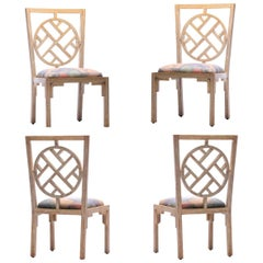 Set of 4 Chinoiserie Side Chairs for the Viceroy Miami