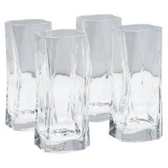 "Set of 4 Cini Boeri ""Cibi"" Crystal Highball Glasses for Arnolfo di Cambio, 1973"