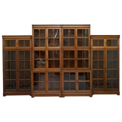 Set of 4 circa 1920 English Oak Minty Oxford Metamorphic Library Bookcases Suite