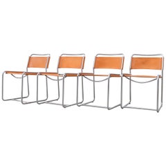Set of 4 Claire Bataille and Paul Ibens Model SE18 Dining Chairs