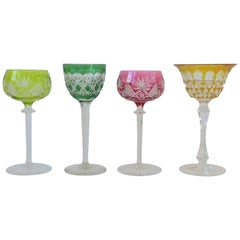 Euro Czech Bohemian Crystal Wine or Cocktail Glasses