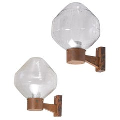 Set of 4 Copper Wall Lamps by Fagerhults, 1960s