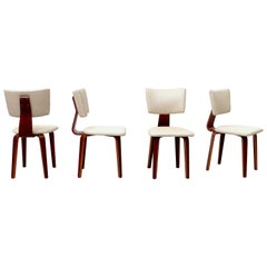 Set of 4 Cor Alons Bent Wood Dining Chairs