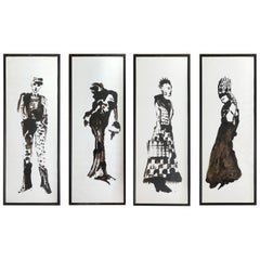 Set of 4 Costume Gouaches for a Theater Play #3