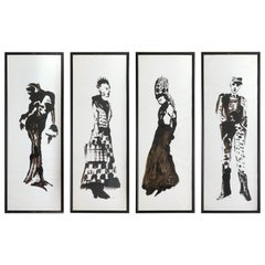 Set of 4 Costume Gouaches for a Theater Play #4